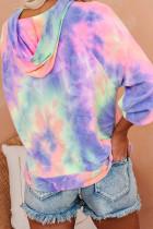 Mehrfarbiger Tie-Dye-Strick-Hoodie
