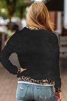 Pulovr na krk Leopard Detail Black