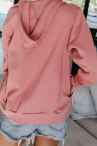Rosa Kapuzenjacke mit Reißverschluss