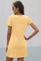 Žluté šaty Triblend Side Knot