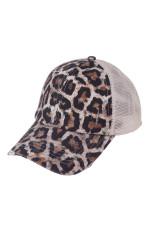 Leopardský Multi Crisscross Pony Cap