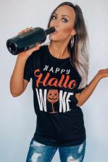 HAPPY Hallo WINE černé tričko