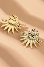 Náušnice s květinovým zlatem