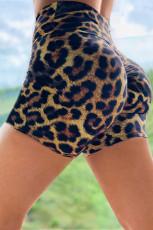 Leopard-tulosta booty-joogahortsit