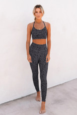 Gray Printed Bra Leggings Set