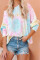 Sky Blue Tie Dye Pullover Long Sleeve Top