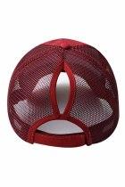 Gorra de béisbol casual ajustable con cierre trasero transpirable de malla de vino