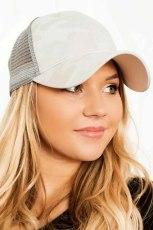 قبعة بيسبول عادية قابلة للتنفس من Snapback قابلة للتنفس باللون الرمادي
