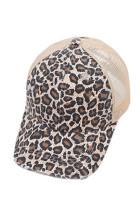 Topi Dicetak Macan Tutul Coklat