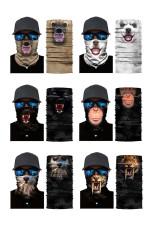 6 шт. / Пакет с животным принтом, Велоспорт, мотоциклетный шарф, теплая маска для шеи и шеи
