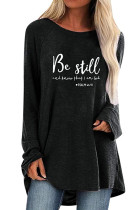Be Still Letters Knit Tunic Top