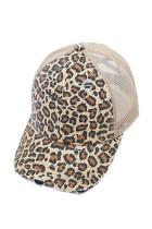 Желтая кепка с леопардовым принтом