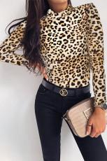 Μακρυμάνικο κορμάκι με μακρύ μανίκι Leopard