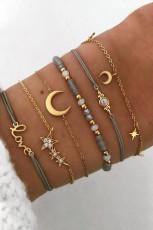 Pulseira Moon & Star 6 Peças