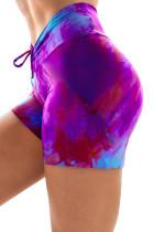 Lilla sportsbukser med høj talje, slips-dye Print