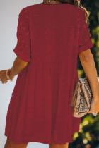 Vestido túnica Babydoll Pom de tono rojo Fever