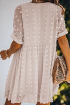 Vestido branco da túnica da boneca de Pom do passo da febre