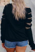 Czarna bluza Leopard Insert