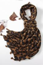 Шарф с леопардовым принтом