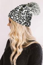 Leopardê Spî Pom Beanie