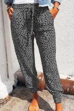 Grey Breezy Leopard Joggers