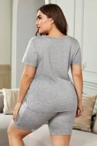 تی شرت گردن و شلوار لباس راحتی سایز V گردن