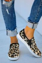 Leopardikuvioitu Slip-On-lenkkarit