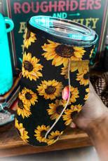 Slunečnicový potisk poháru