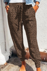 Brown Breezy Leopard Joggers