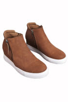 Brown Wedges Platform Vulcanize Schuhe