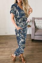 Chic Camo Print Jumpsuit