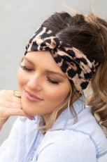 Brun Leopard Twist Headwrap