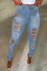 شلوار جین شفاف آبی روشن