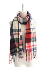 Shawl Plaid Tassel Comfortable Scarf