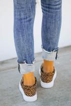 Sepatu Slip-on Leopard Halloween Pumpkin