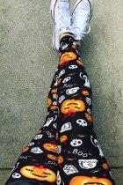 Halloween Pumpkin Ghost Skull Boo leggingsit