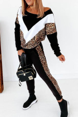 Set pantaloni Colorblock Cheetah Sweatshirt