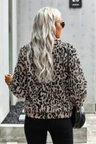 Leopard Print Sherpa Jacket Jacket