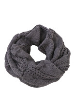 Dark Gray Classic Fashion Knit Circle Scarf