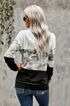 Mikina s kapucí pro volný čas Camo Colorblock