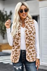 Leopard Sherpa jacka väst