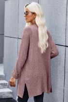 Áo len dệt kim màu hồng