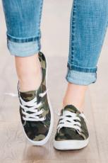 Sepatu Slip On Camo Hijau