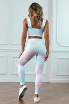 Multicolor Tie Dye Print Yoga Sets
