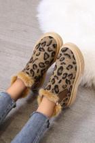 Sepatu Bot Berbulu Leopard Print