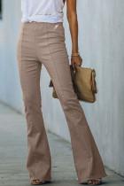 Джинсовые брюки-клеш с высокой посадкой