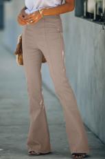 Denim broek met hoge taille en klokbodem