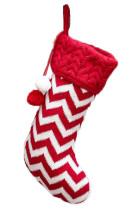 Punainen Pompom joulu roikkuu sisustus sukka
