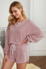 Pink Cotton Blend Slouchy Set