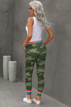 Pantaloni Casual Rainbow Stripe Green Camo